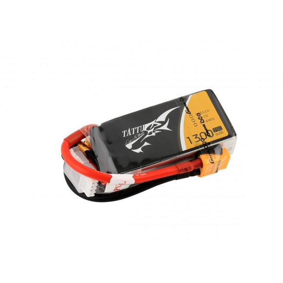 Tattu 1300mAh 3s 75-150c Lipo Battery Pack - Next FPV