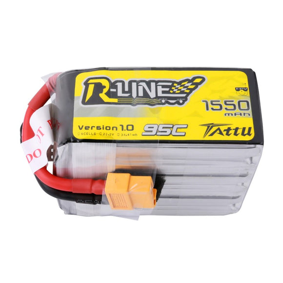 Tattu R-Line 1550mAh 95C 6S1P Lipo Battery Pack