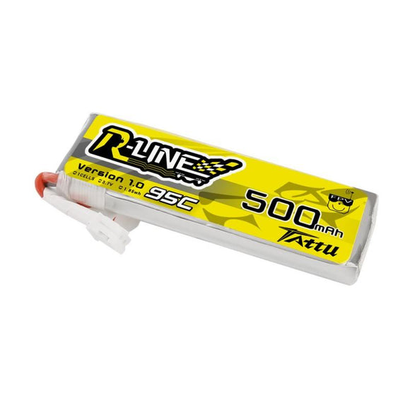 TATTU 500MAH 2S 95C 3.7V 95C LIPO BATTERY PACK WITH  JST-PHR PLUG