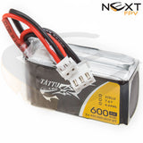 Tattu 600mAh 2s 45c Lipo Battery Pack XH-2P XH-3P (suitable for DYS ELF)