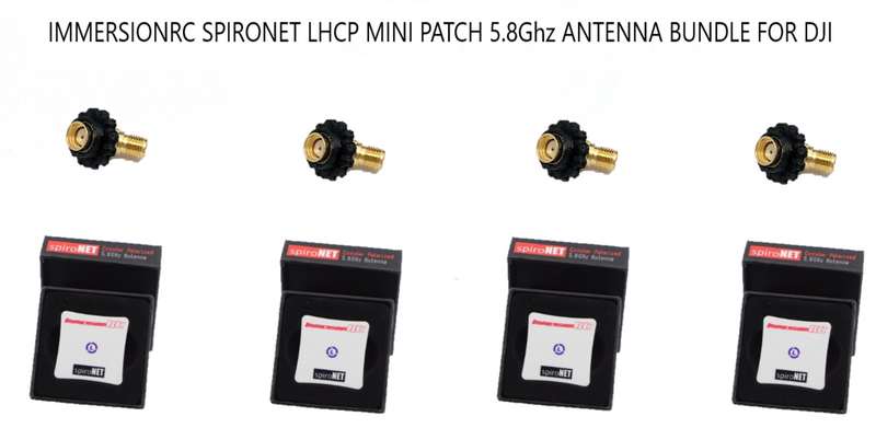 IMMERSIONRC SPIRONET LHCP MINI PATCH 5.8Ghz ANTENNA BUNDLE FOR DJI