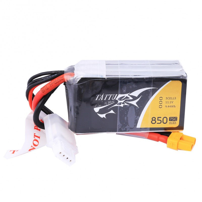 Tattu 850mAh 3s 75c Lipo Battery Pack - NextFPV - 4
