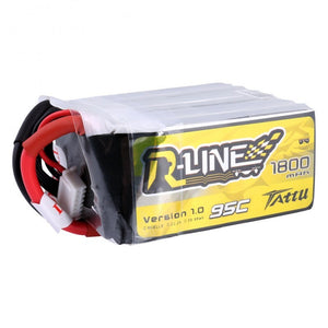 TATTU R-line 1800mAh 14.8V 95C 4S1P Lipo Battery Pack