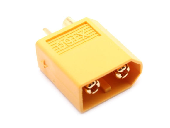 XT60 MALE CONNECTORS (5CS/BAG) GENUINE YELLOW