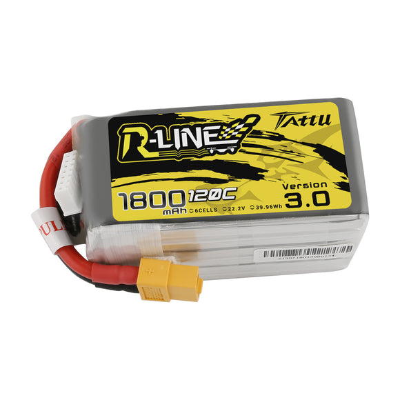 TATTU R LINE V3.0 1800MAH 120C 6S1P LIPO BATTERY PACK
