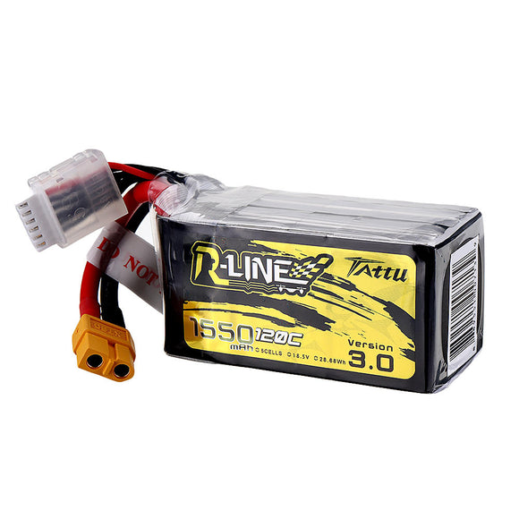 TATTU R-LINE V3.0 1550MAH 120C 5S1P LIPO BATTERY PACK