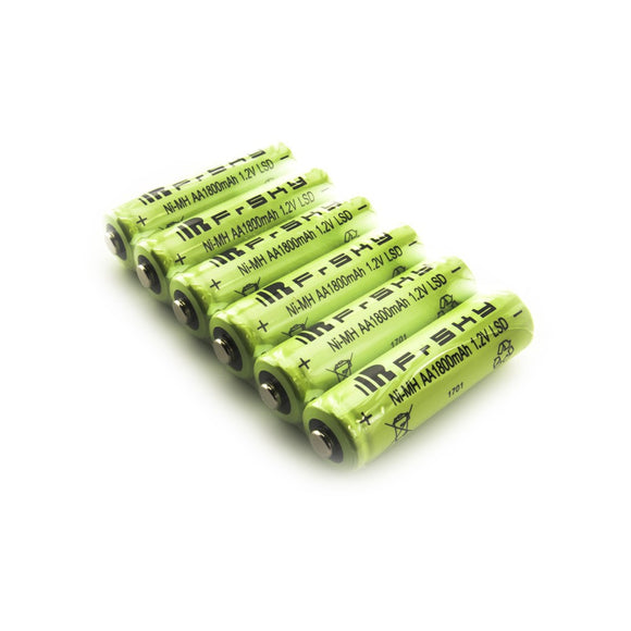 FrSKY AA Rechargeable 1800mAh LSD NiMH Battery for Taranis Q X7 (Pack of 6)