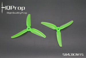 HQ Durable Prop 5X4.3X3V1S  (8CW+8CCW) Poly Carbonate