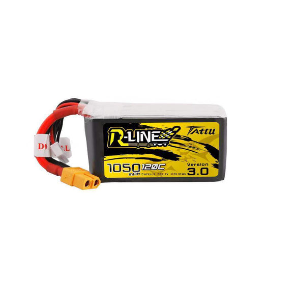 TATTU R-LINE V3.0 1050MAH 120C 6S1P LIPO BATTERY PACK