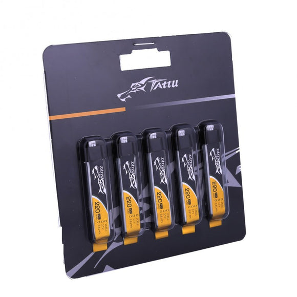 Tattu 220mAh 1s Lipo Battery Pack (5pcs) - NextFPV - 1