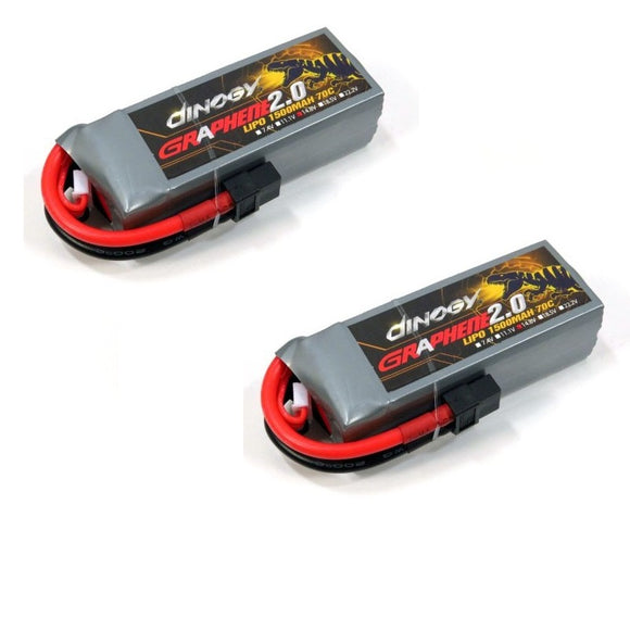 Dinogy Graphene 4S 14.8V 1500mAh 70C LIPO BATTERY PACK (2 PACK)
