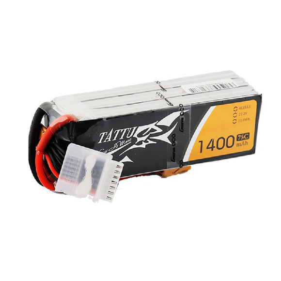 Tattu 1400mAh 6s 75c Lipo Battery Pack - NextFPV