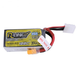 Tattu R-Line V2 1300mAh 100C 4S1P lipo battery pack