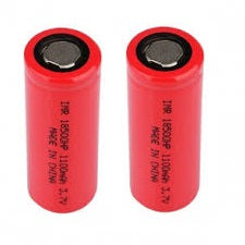 IMR 18500 HP Li-ion Battery 22A 1100mAh to suit FrSKY  X-Lite (2pcs)