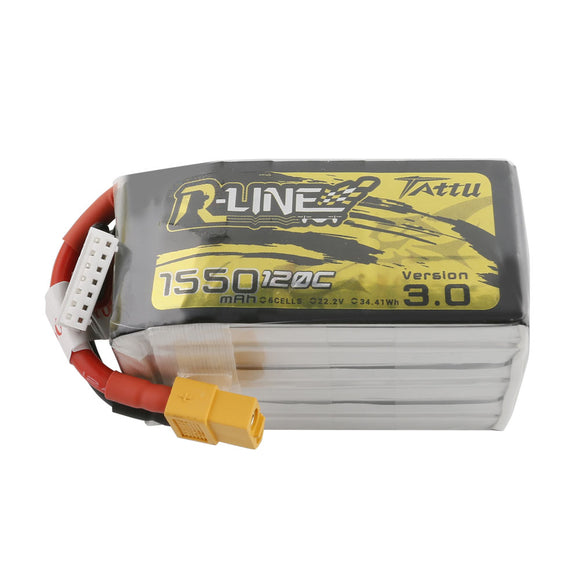 TATTU R LINE V3.0 1550MAH 120C 6S1P LIPO BATTERY PACK