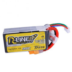 Tattu R-Line 1300mAh 95C 4S1P lipo battery pack - NextFPV - 1