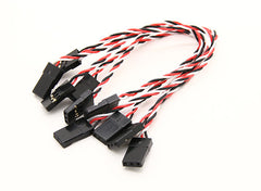 Twisted Male to Male 26 AWG Silicone Servo Cable (JR) 130mm(black/red/white) 5pcs - Next FPV