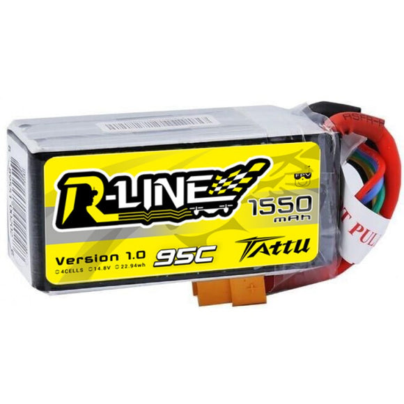 Tattu R-Line 1550mAh 95C 4S1P lipo battery pack - NextFPV