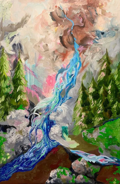 Water Falls Painting Jamie Russell