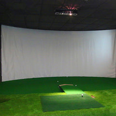 PGM Golf Simulator Display Screen Indoor Training | Impact Projection Screen White Cloth For Golf Exercise Golf Target