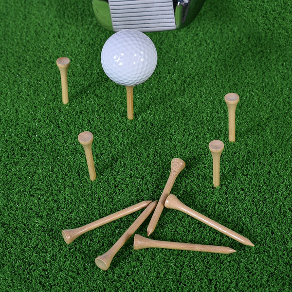 Xingjingcheng Golf Tees Bamboo | Unbreakable Golf Training Tee Less Friction