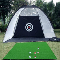 jusenda Indoor Outdoor Golf Swing Practice Net | Golf Training Hitting Cage
