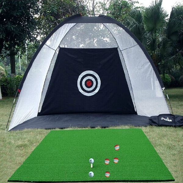 Outdoor Golf Practice Net Hitting Cage | Garden Tent Golf Training