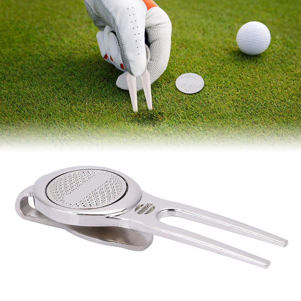 Cycle Zone Golf Marker Pitch | Mark Green Divot Golf Accessories Pitchfork Golf Training Aids