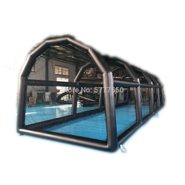 Outdoor Big Size Custom Inflatable Golf Cage | 40 ft Length Golf Practice Net