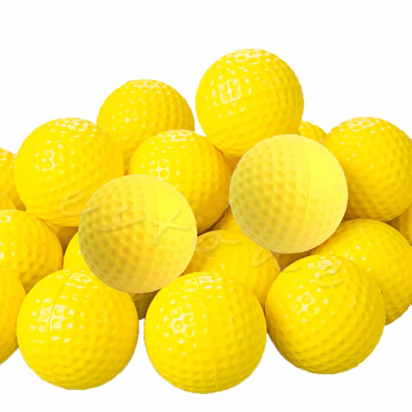 OOTDTY PU Foam Golf Balls Yellow Sponge | Elastic Indoor Outdoor Practice Golf Balls
