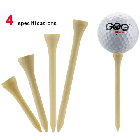 Gog Golf Bamboo Wooden Tees | Golf Ball Holder