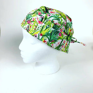 scrub caps made to order handmade with cotton great fit made in Ontario Canada