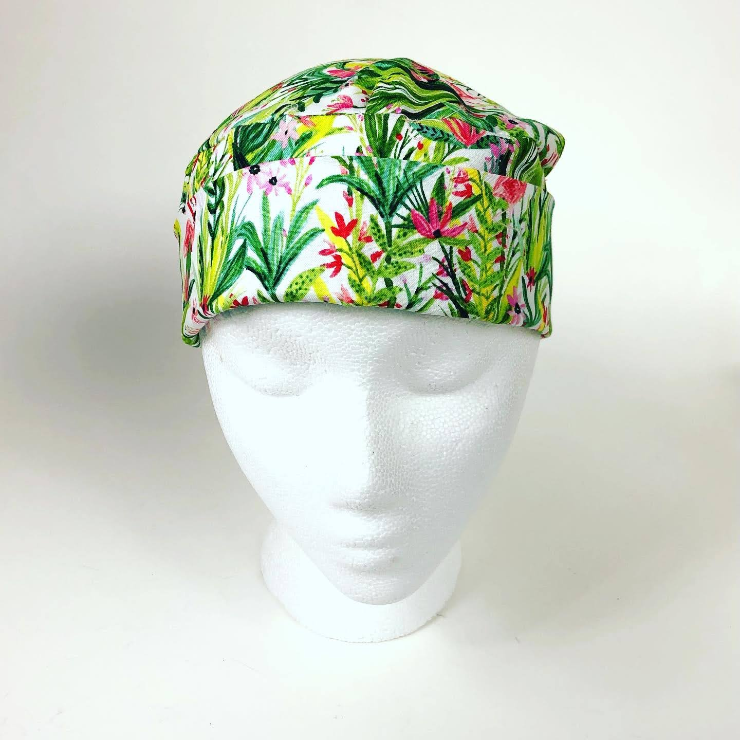 Surgical Caps: Scrub Caps, Unisex, 100% Cotton, Made-to-Order
