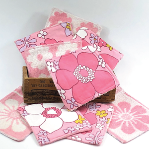 Reusable Cleansing Cloths: Felicity Pink - More coming soon!