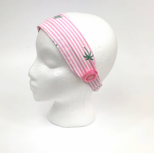 Ear Savers: Miami Pink Stripes and Palm Trees