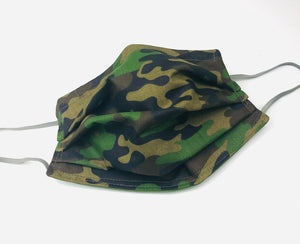 Face Mask: Cammo Hunters Green