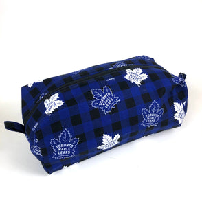 Cosmetic Bag:  A Fan Fav Toronto Maple Leafs Dopp Kit Licensed Fabric!