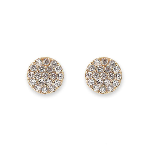 Bianc Jewellery | Earrings | Gold pave cz circle studs
