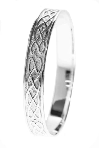 Celtic Jewellery | Solid Woven Wheat Knot Bangle | Celebrating the harvest time of life