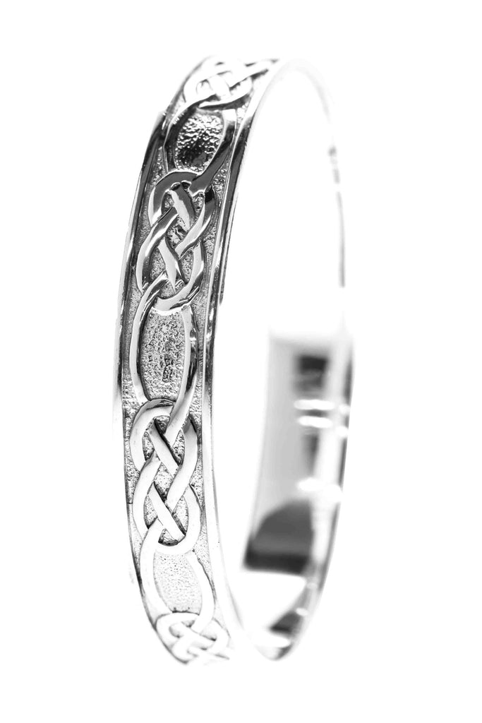 Celtic Jewellery | Solid Woven Knot Bangle | for togetherness and celebrations