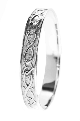 Celtic Jewellery | solid heart infinity bangle | for togetherness and celebrations