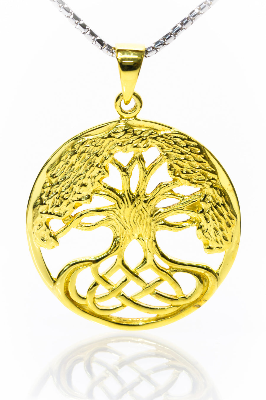Tree of life Jewellery | Gold Plated Celtic Knot Tree Pendant