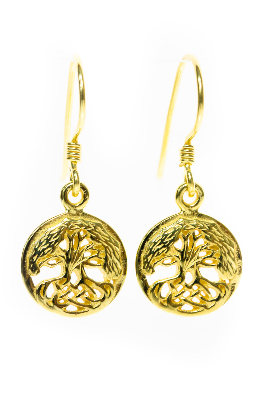 Tree of Life Earrings - Gold Plated Celtic Knots