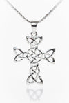 Celtic Knot Cross Silver Pendant