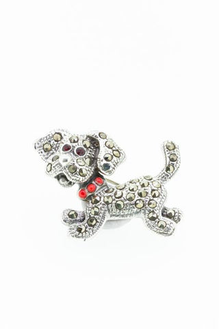 Silver Dog Broach | SALE 50% OFF