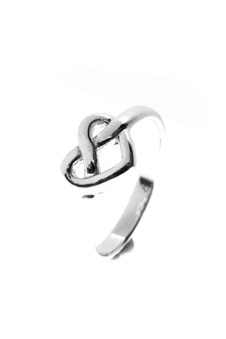 Celtic Jewellery | heart knot ring |  Strength through love