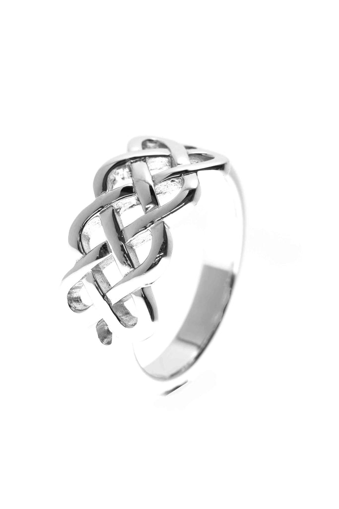 Celtic Jewellery | looping cross ring | Modern style harvest knot