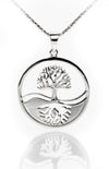 Tree of Life Reflection SIlver Pendant