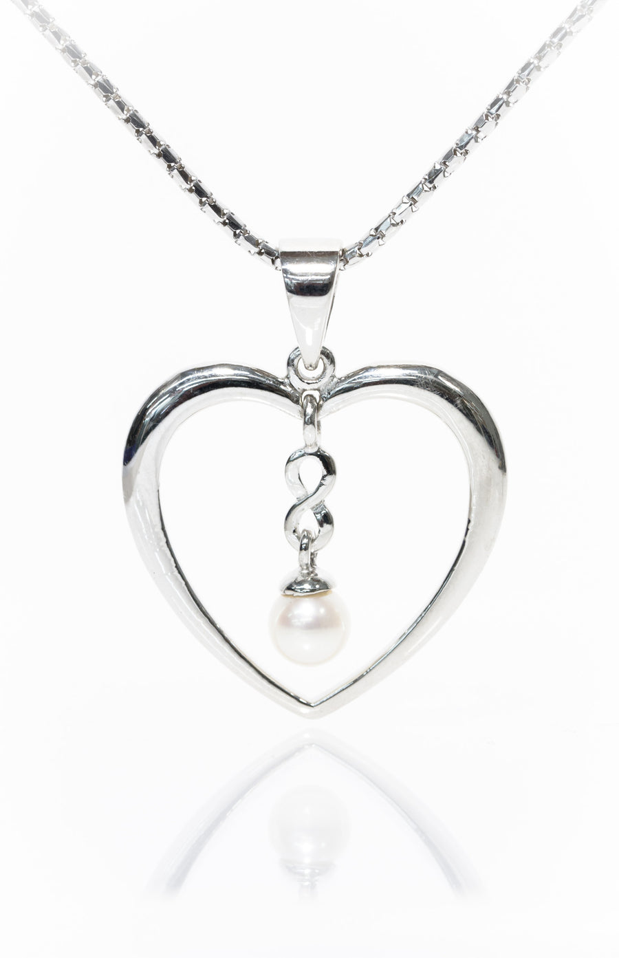 Heart Drop Pearl Pendant from the Infinity Range