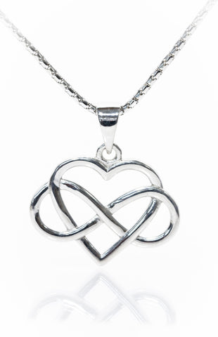 Infinity jewellery | Infinity wrap around heart pendant
